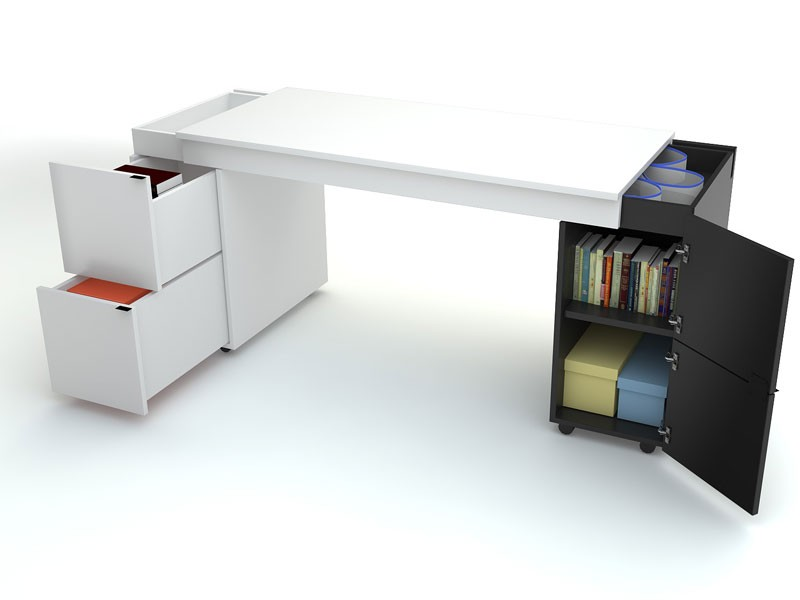 Новаторский стол письменный transformers (белая столешница).