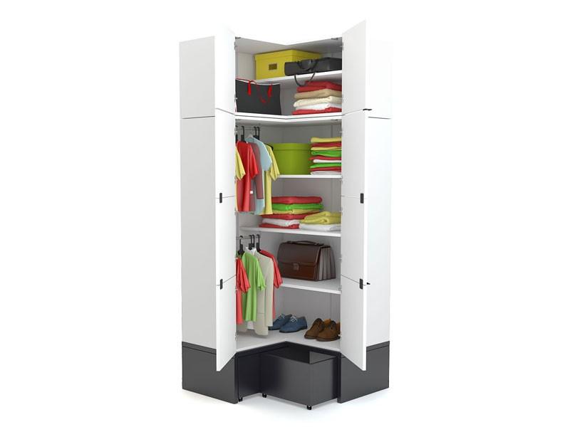 Шкаф угловой c подставкой и ящиками young users by vox - куп.
